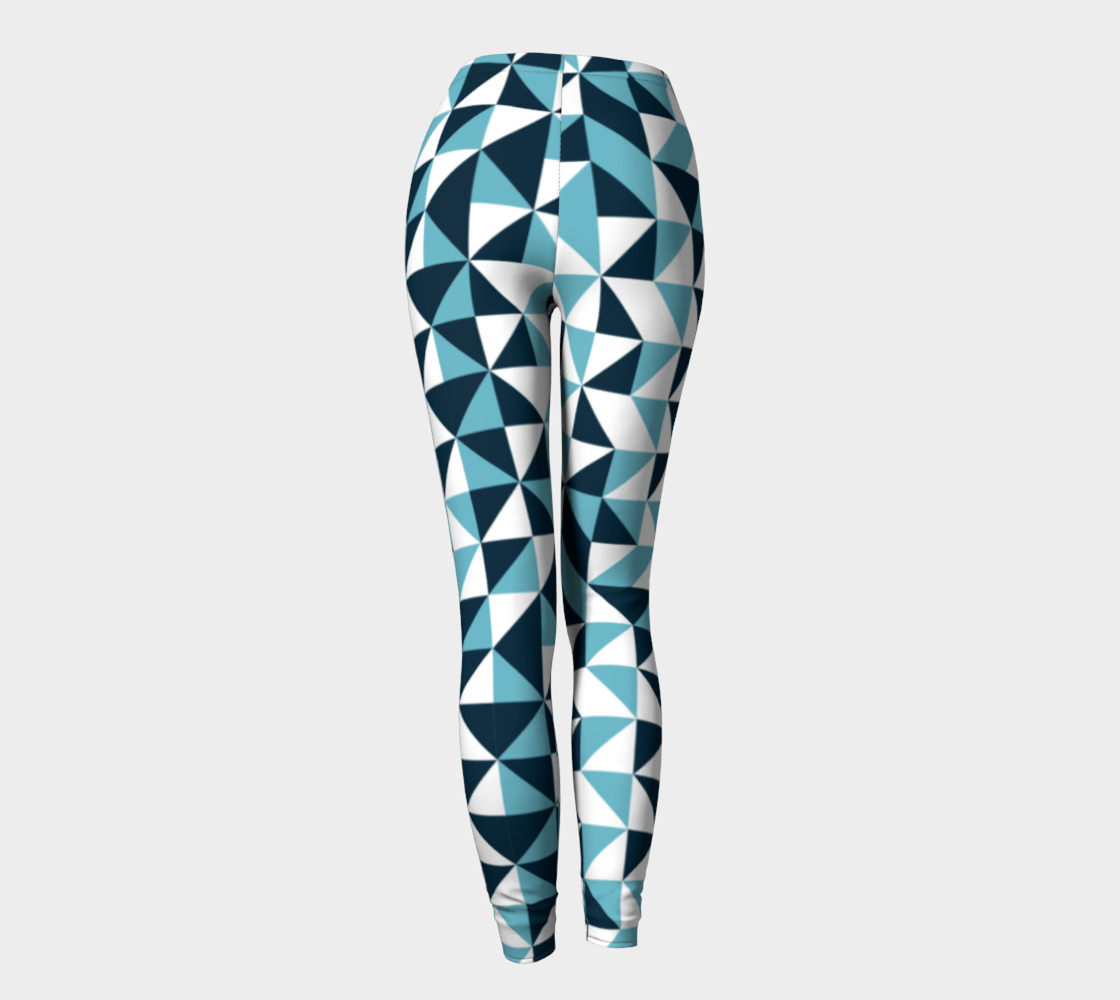 Blue Triangles Leggings preview #4