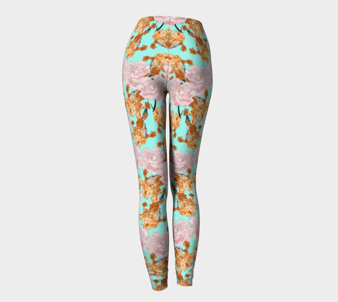 2 St/ück kn/öchellang Gymnastik Hose mit Haarring bedruckt Blume OioTuyi kreative M/ädchen-Leggings Kleidung