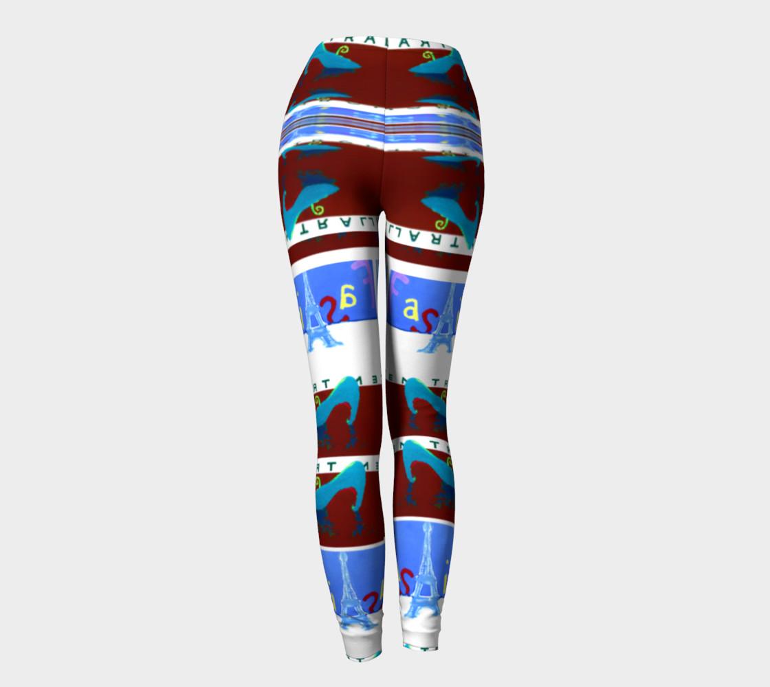 Fashion Art Central / Trim-Look Fashion Leggings preview #4