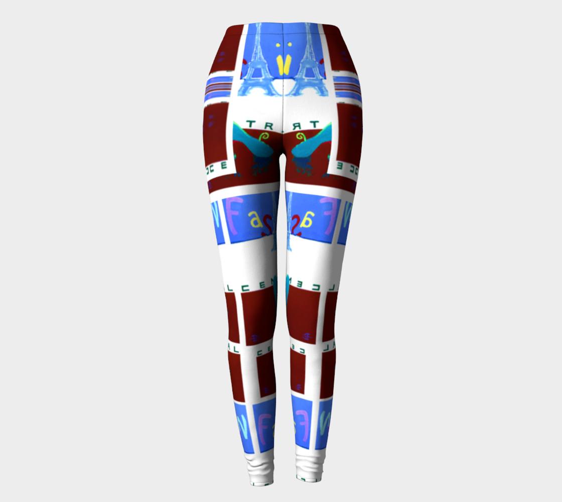 Fashion Art Central / Trim-Look Fashion Leggings preview #2