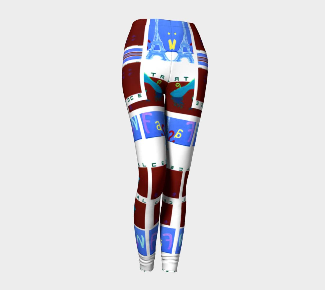 Fashion Art Central / Trim-Look Fashion Leggings preview #1