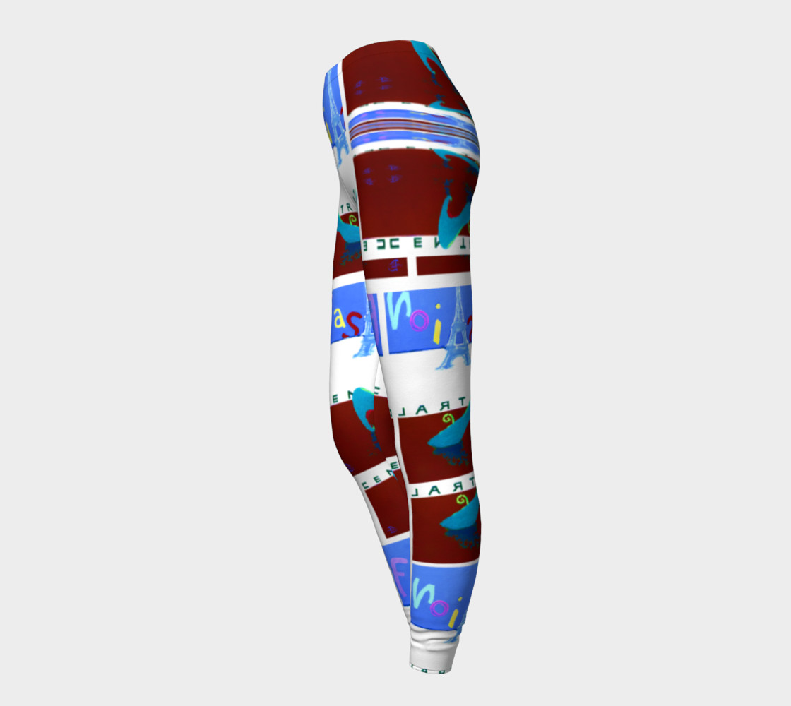 Fashion Art Central / Trim-Look Fashion Leggings preview #3