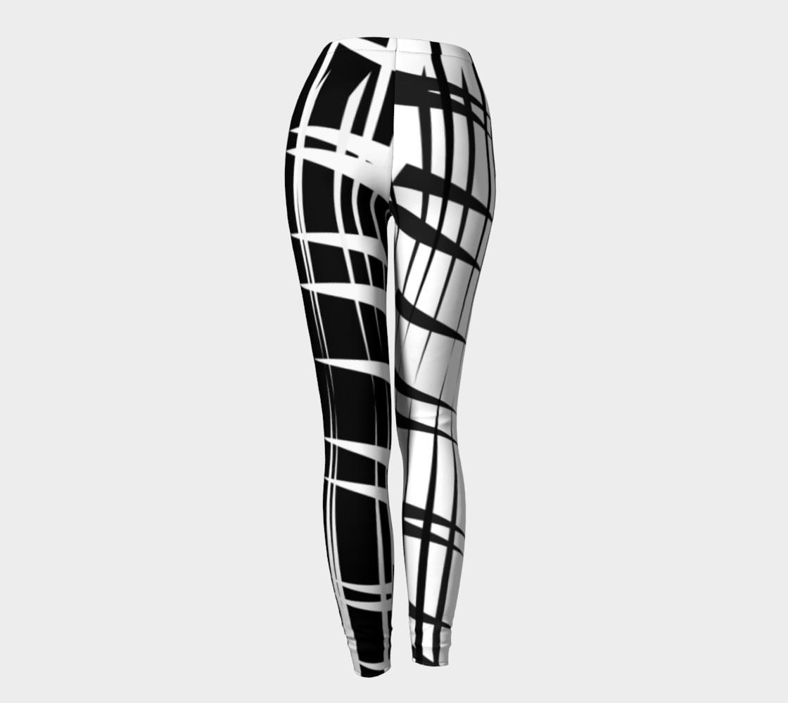 Amila Print--leggingscontrastlegblkwhite preview #4
