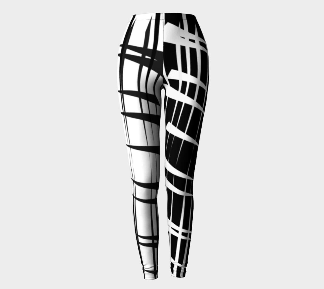 Amila Print--leggingscontrastlegblkwhite preview #2
