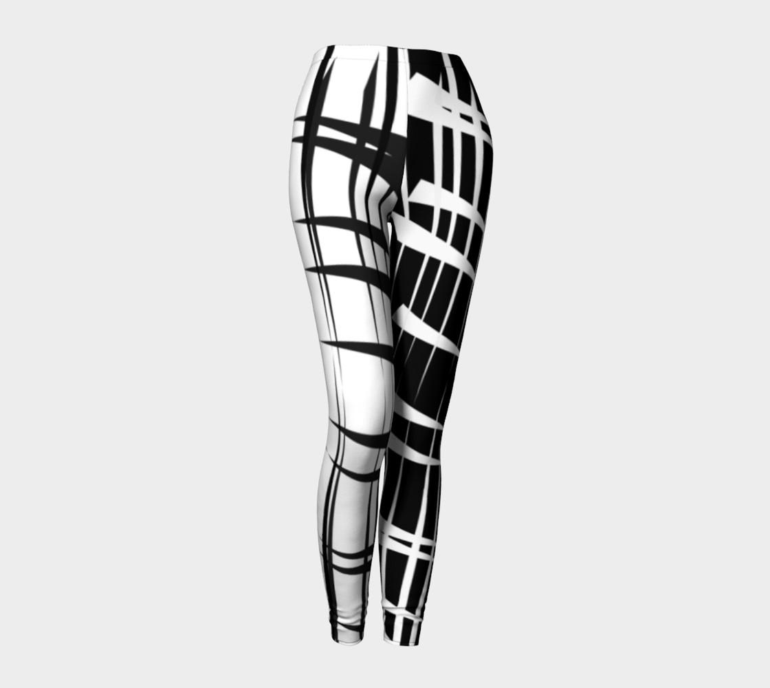Amila Print--leggingscontrastlegblkwhite preview #1
