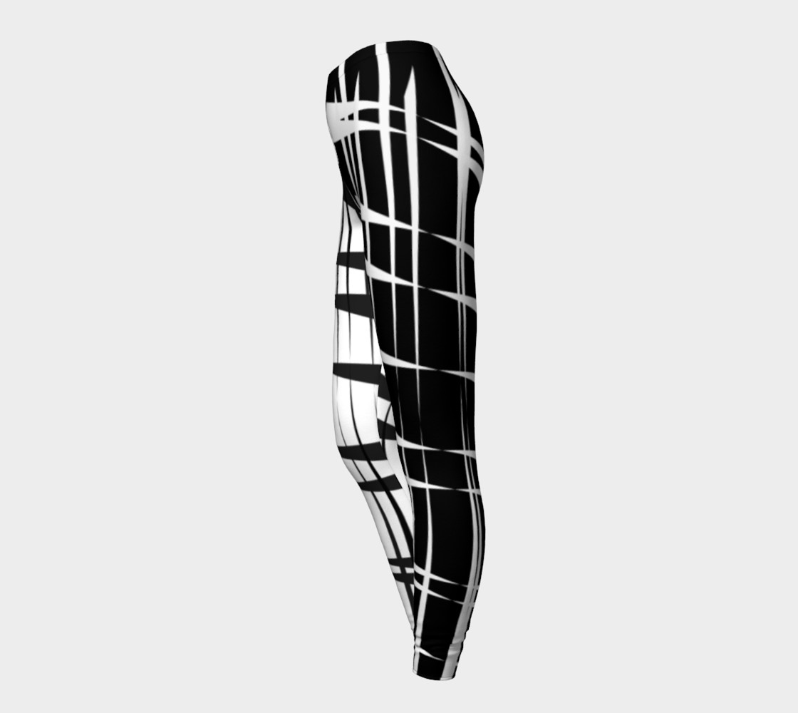 Amila Print--leggingscontrastlegblkwhite preview #3