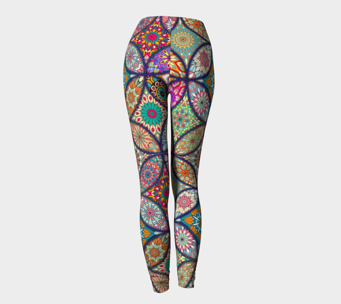 Vibrant Mandalas Leggings preview #4