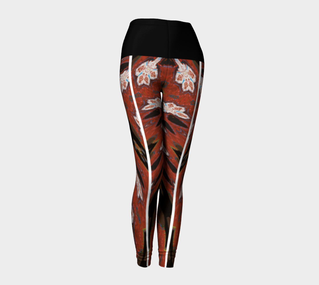Simone Says Slimming-Action Floral Print Leggings preview #1