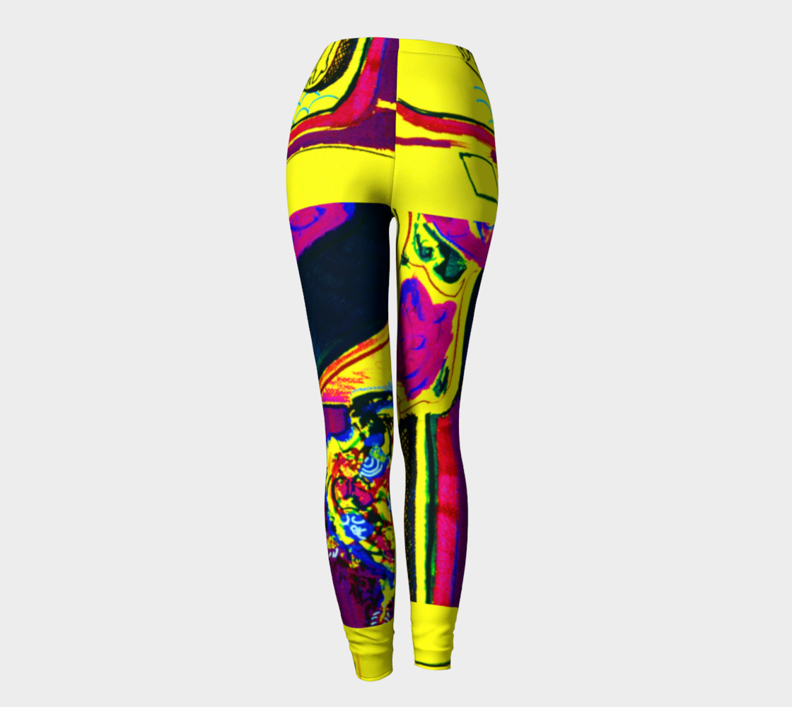 Vacation Yoga HOT ZONE Short-Shorts Printed on Leggings preview #4