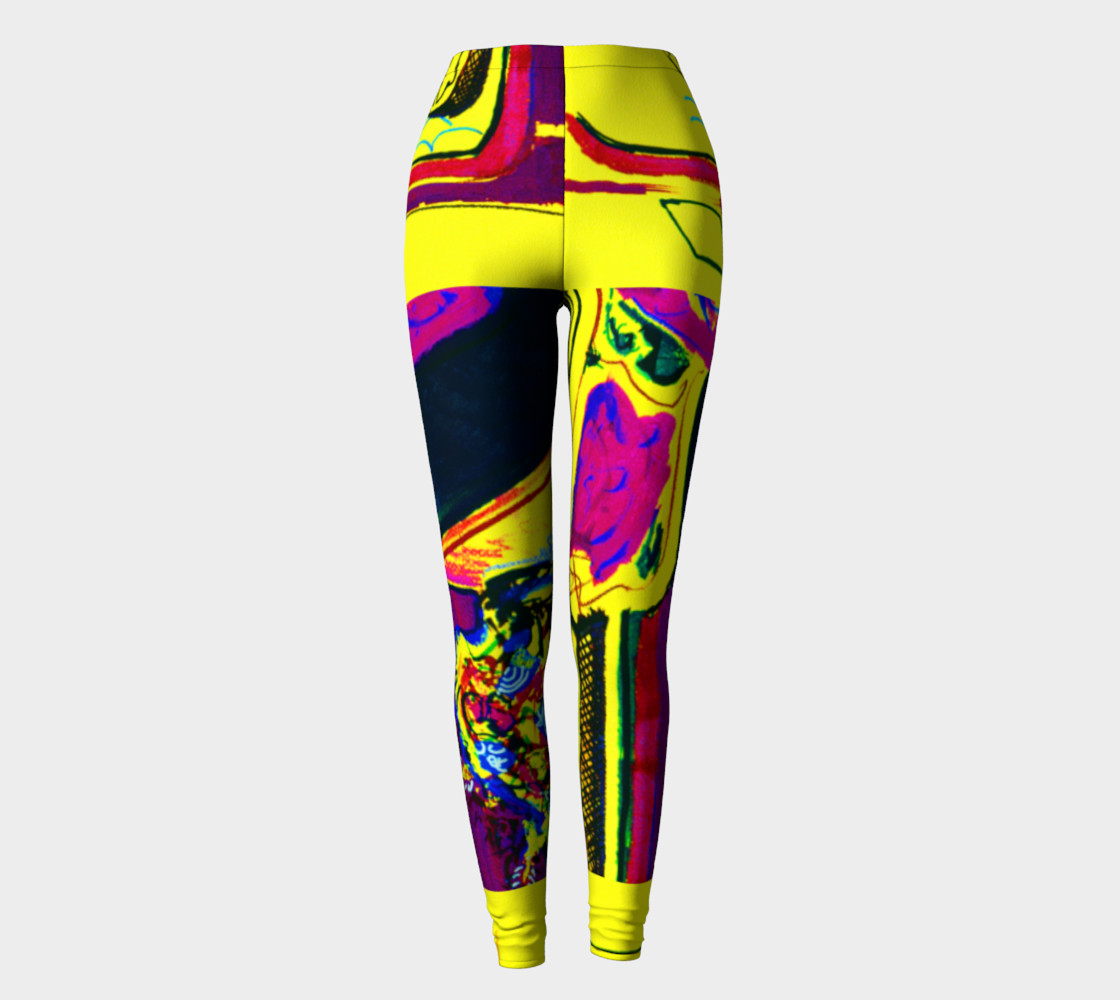 Vacation Yoga HOT ZONE Short-Shorts Printed on Leggings preview #2