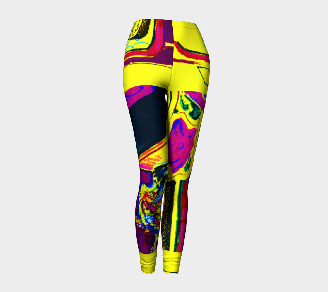 Vacation Yoga HOT ZONE Short-Shorts Printed on Leggings preview #1