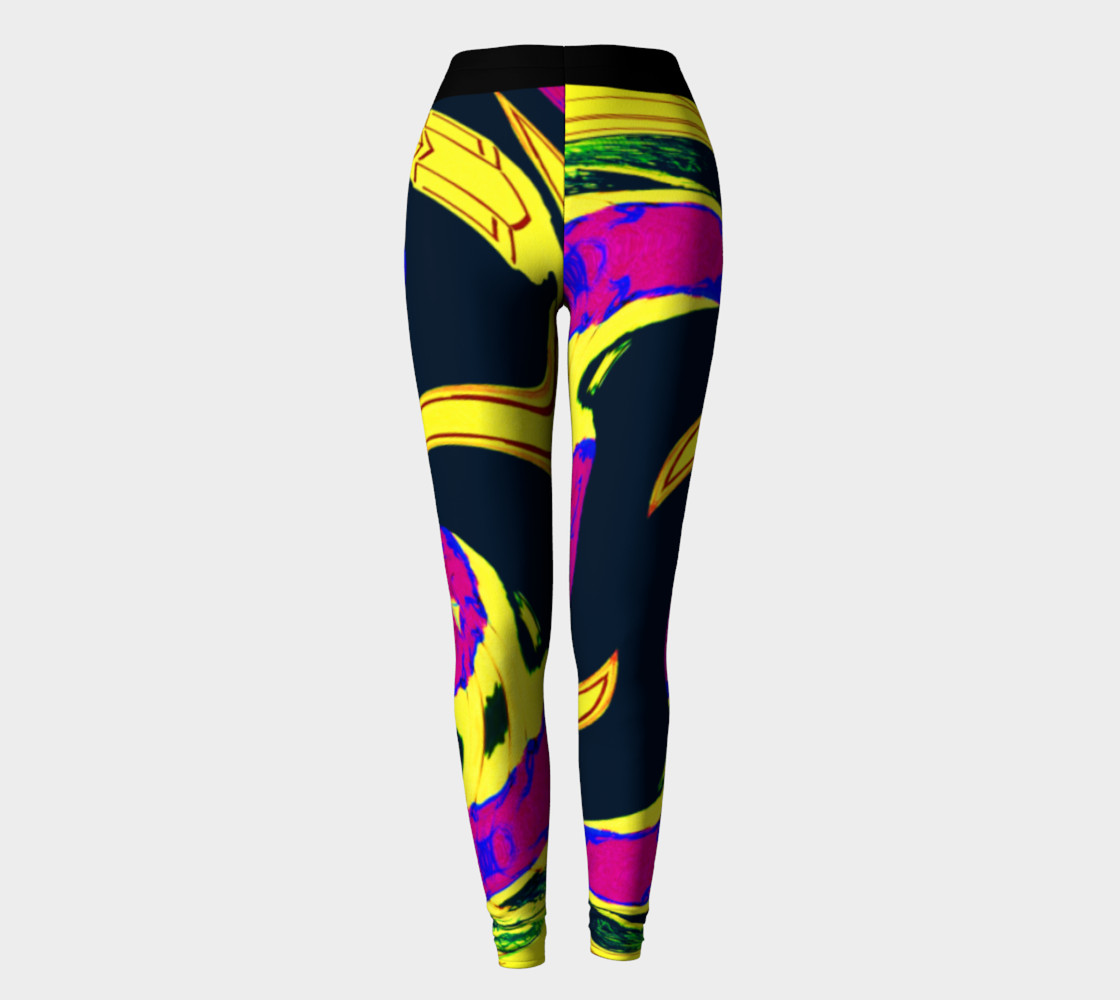 Vacation Yoga Power Leggings preview #2