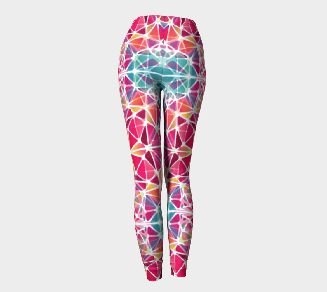 Pink and Blue Kaleidoscope Leggings preview #4