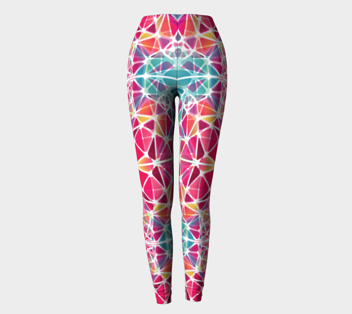 Pink and Blue Kaleidoscope Leggings preview #2