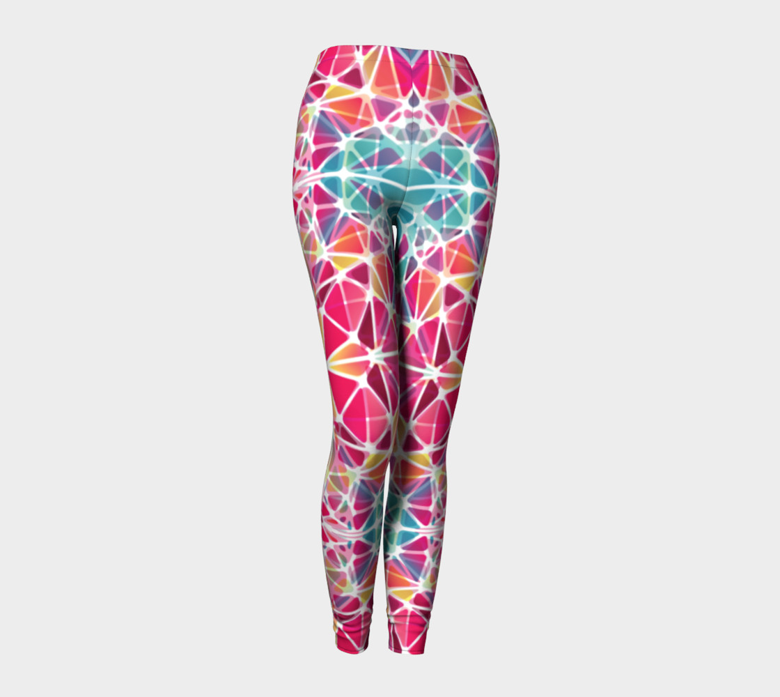 Pink and Blue Kaleidoscope Leggings preview #1
