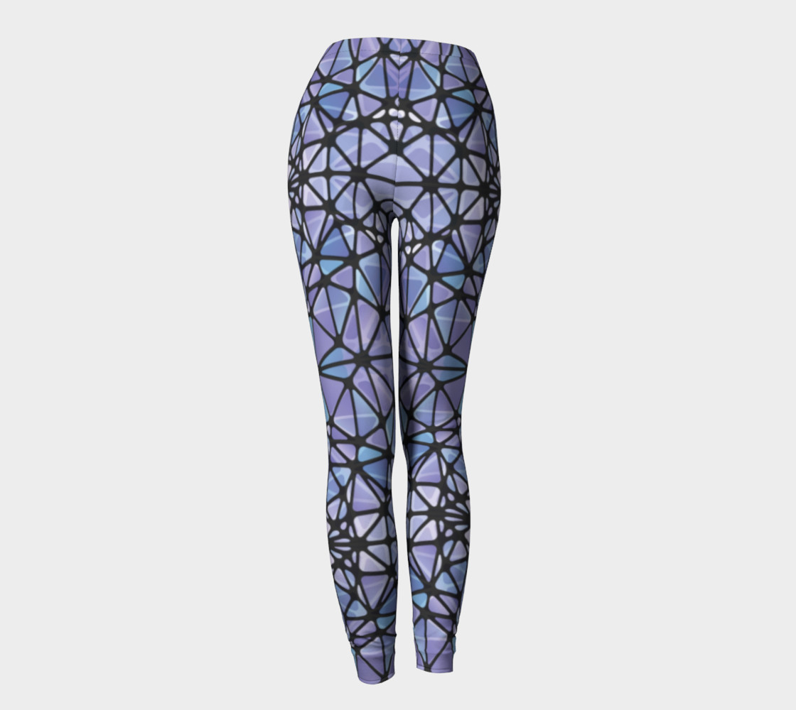Purple and Blue Kaleidoscope Leggings preview #4