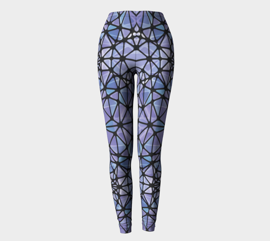 Purple and Blue Kaleidoscope Leggings preview #2