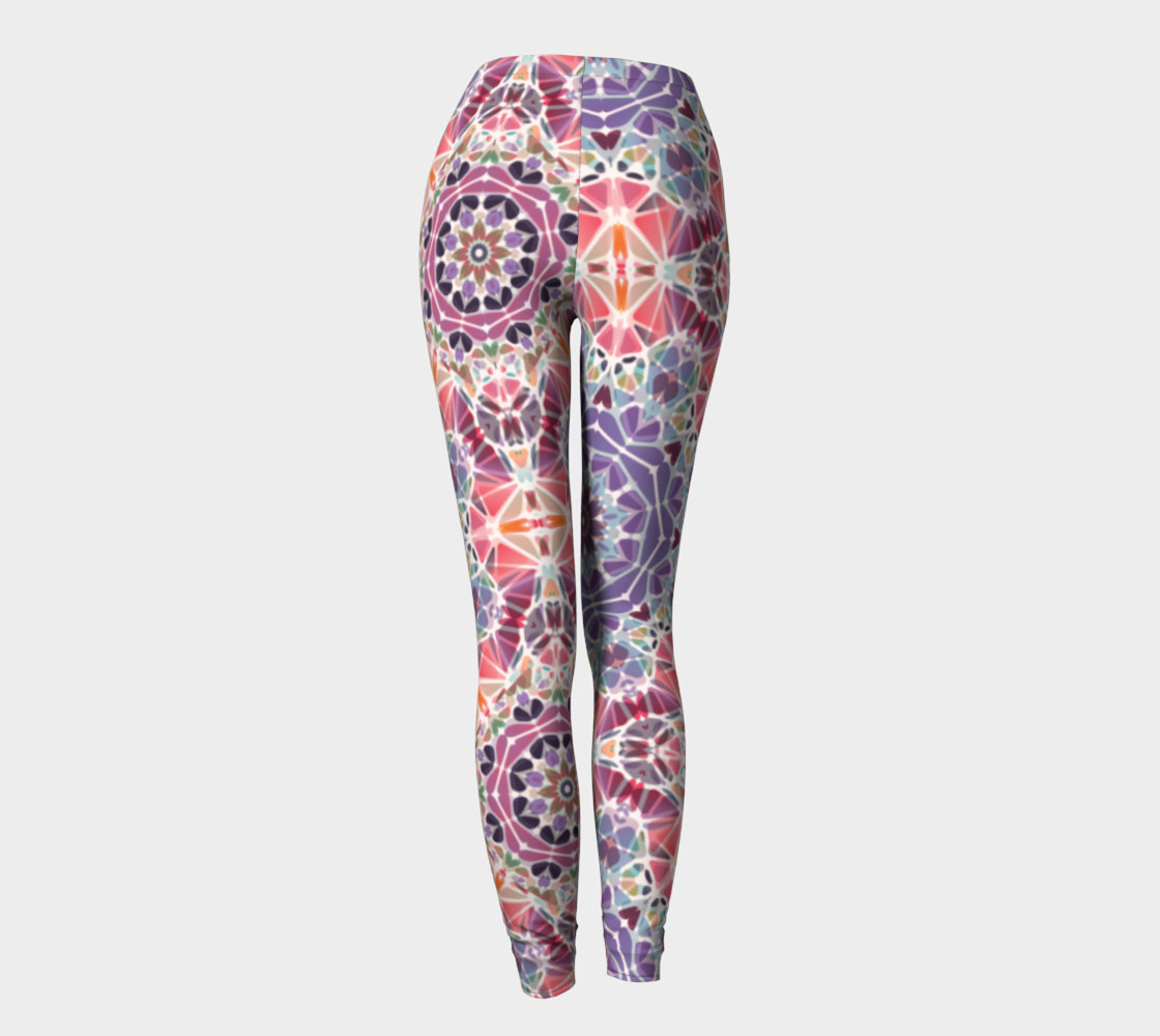 Purple and Pink Kaleidoscope Leggings preview #4