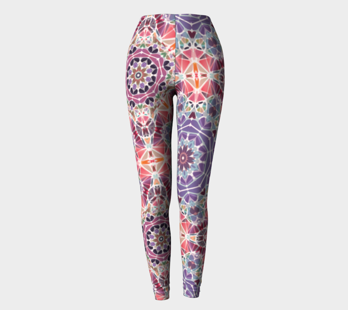 Purple and Pink Kaleidoscope Leggings preview #2