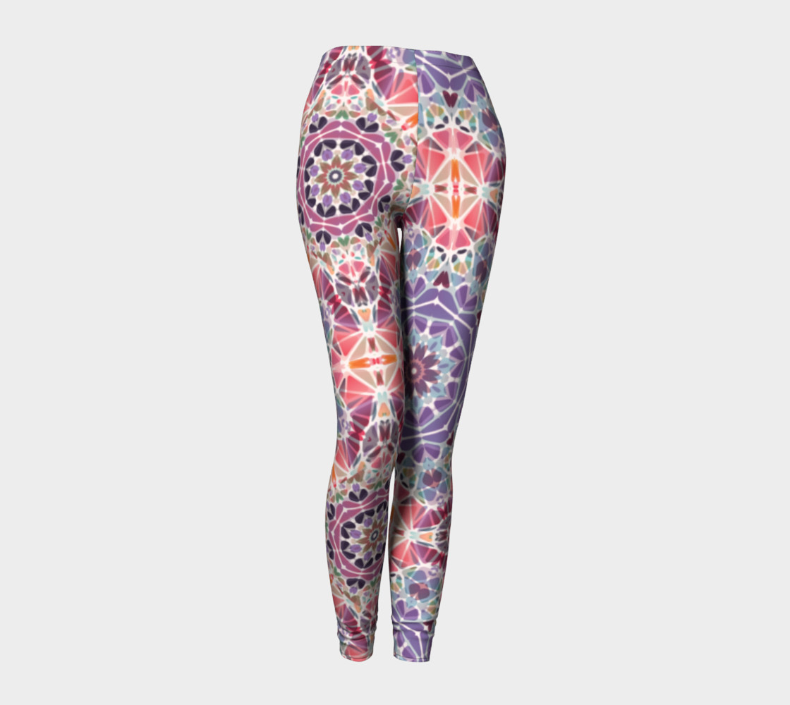 Purple and Pink Kaleidoscope Leggings preview #1