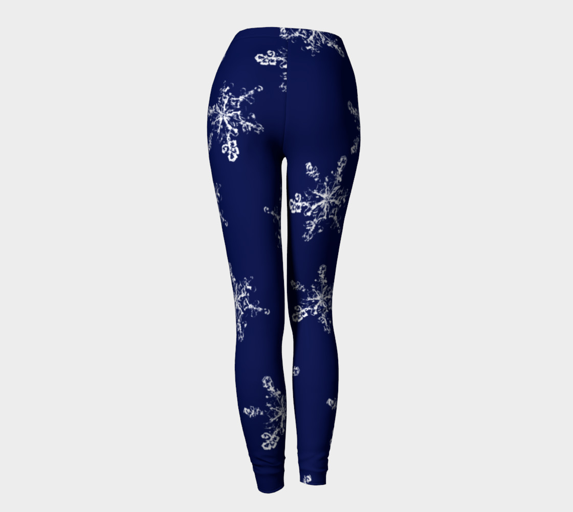 Snowflakes on Navy Background preview #4
