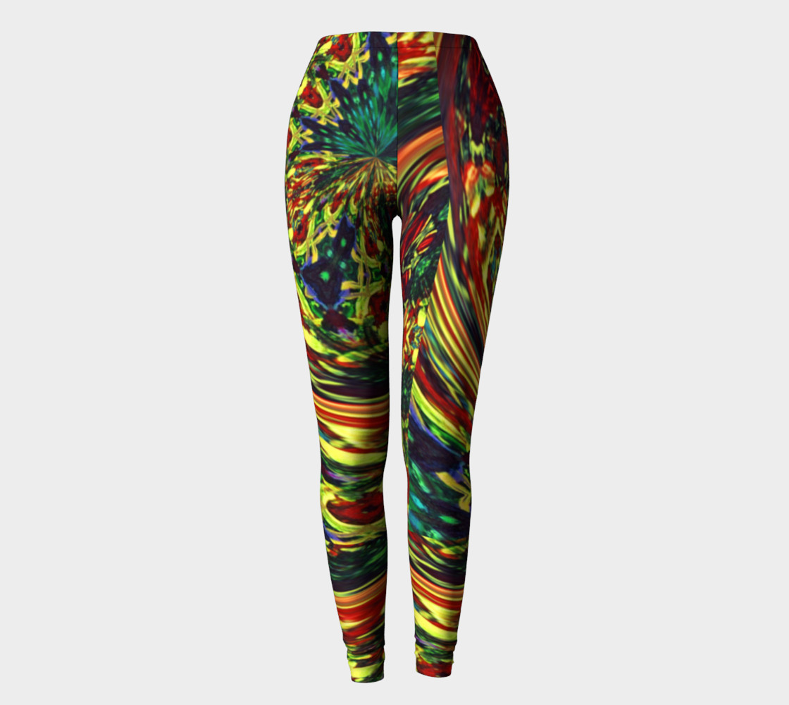Glenna's Ravewear Floral-Splash Leggings preview #2
