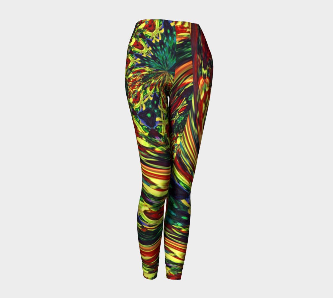 Glenna's Ravewear Floral-Splash Leggings preview #1