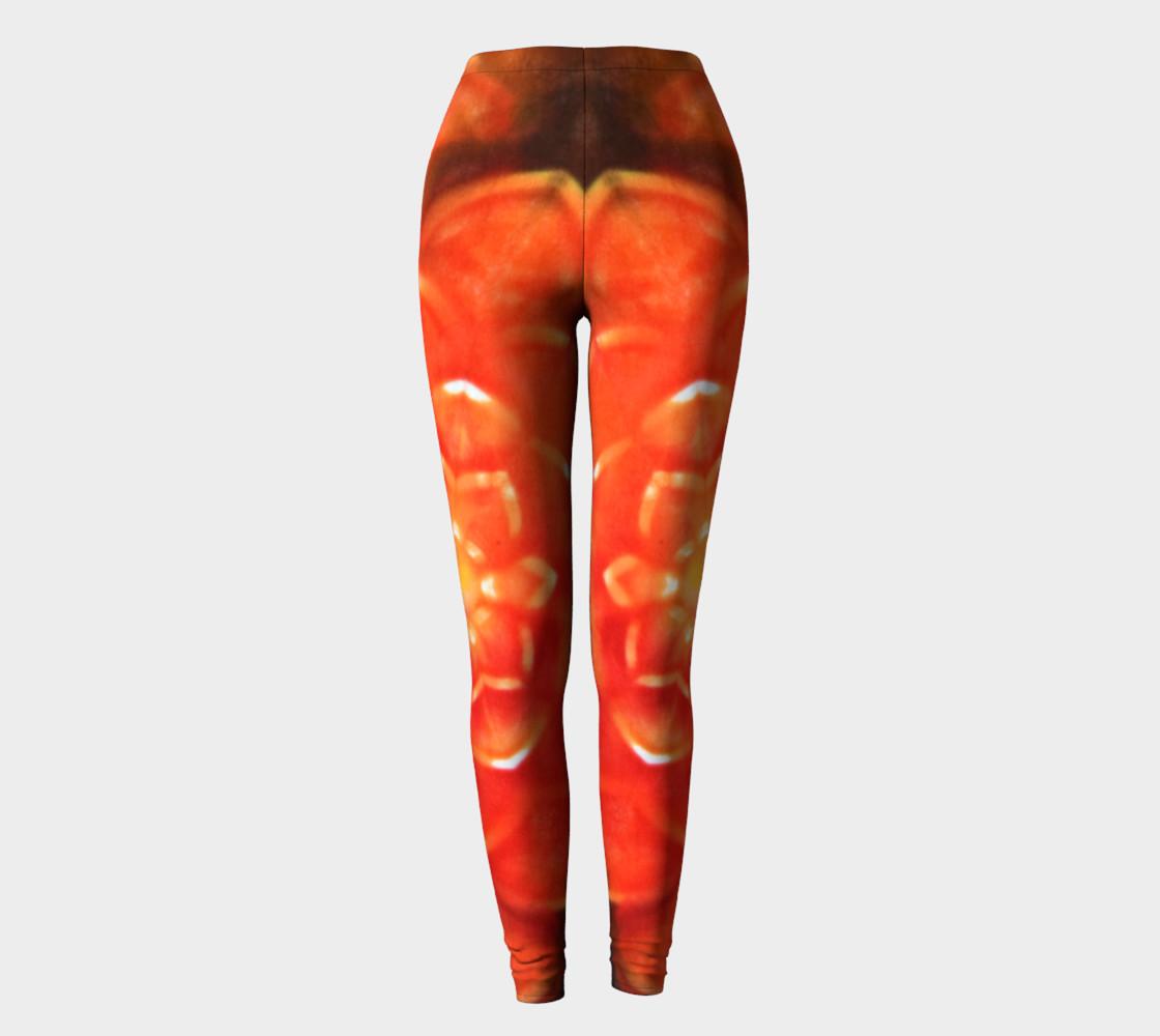 Orange Lotus Leggings preview #2