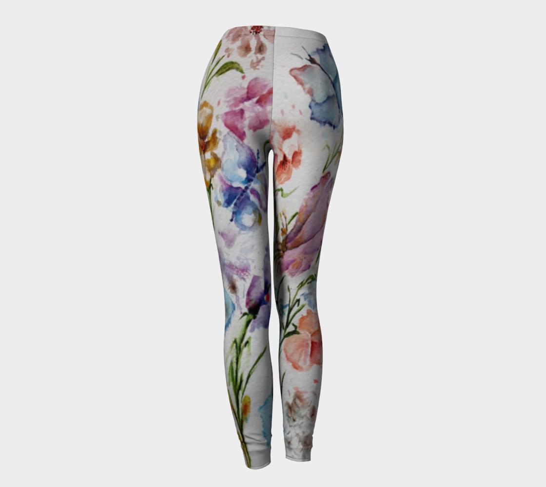 WHIMSICAL FLOWERS LEGGINGS  preview #4