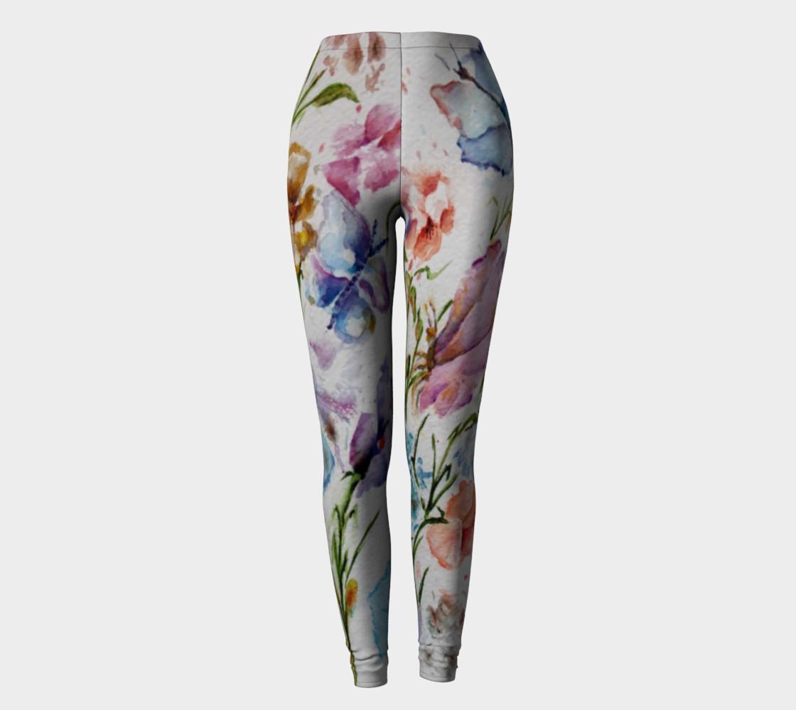 WHIMSICAL FLOWERS LEGGINGS  preview #2