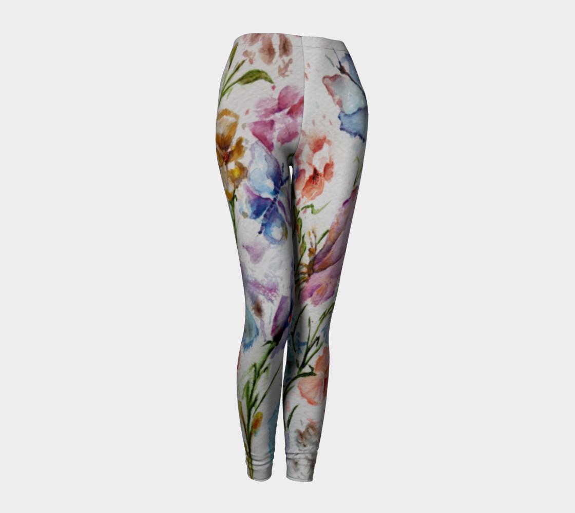 WHIMSICAL FLOWERS LEGGINGS  preview #1