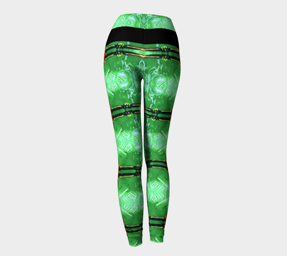 Aperçu de Emerald City Girl Red Bow Leggings #4