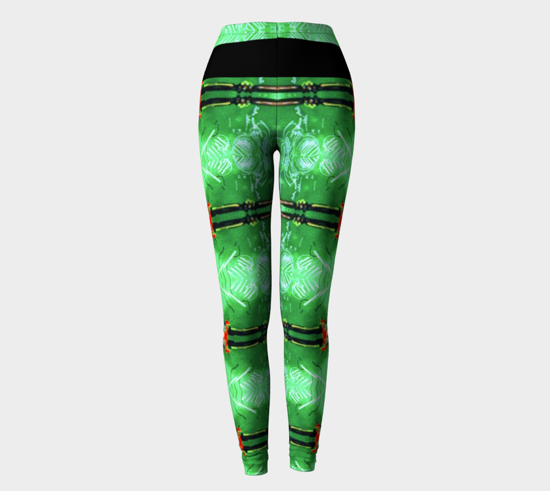 Aperçu de Emerald City Girl Red Bow Leggings #2
