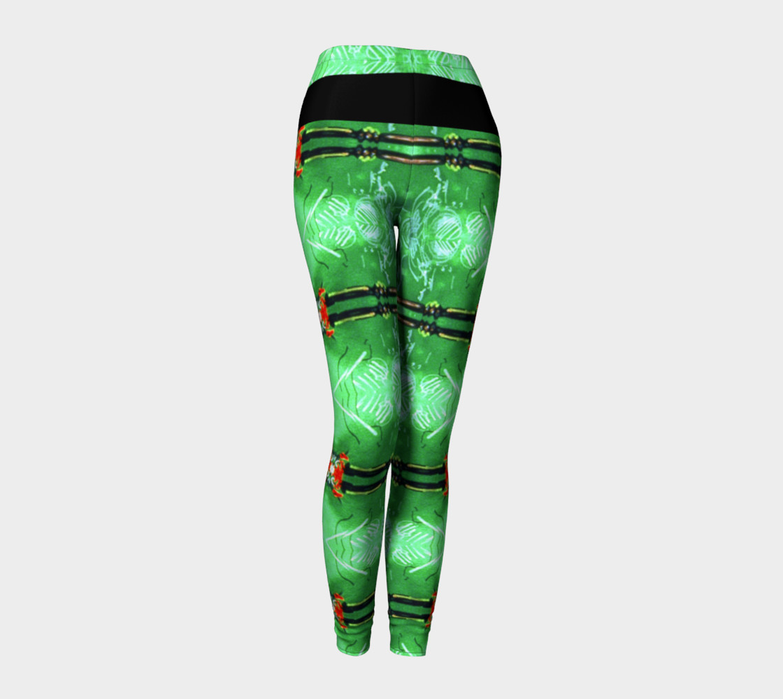 Aperçu de Emerald City Girl Red Bow Leggings #1