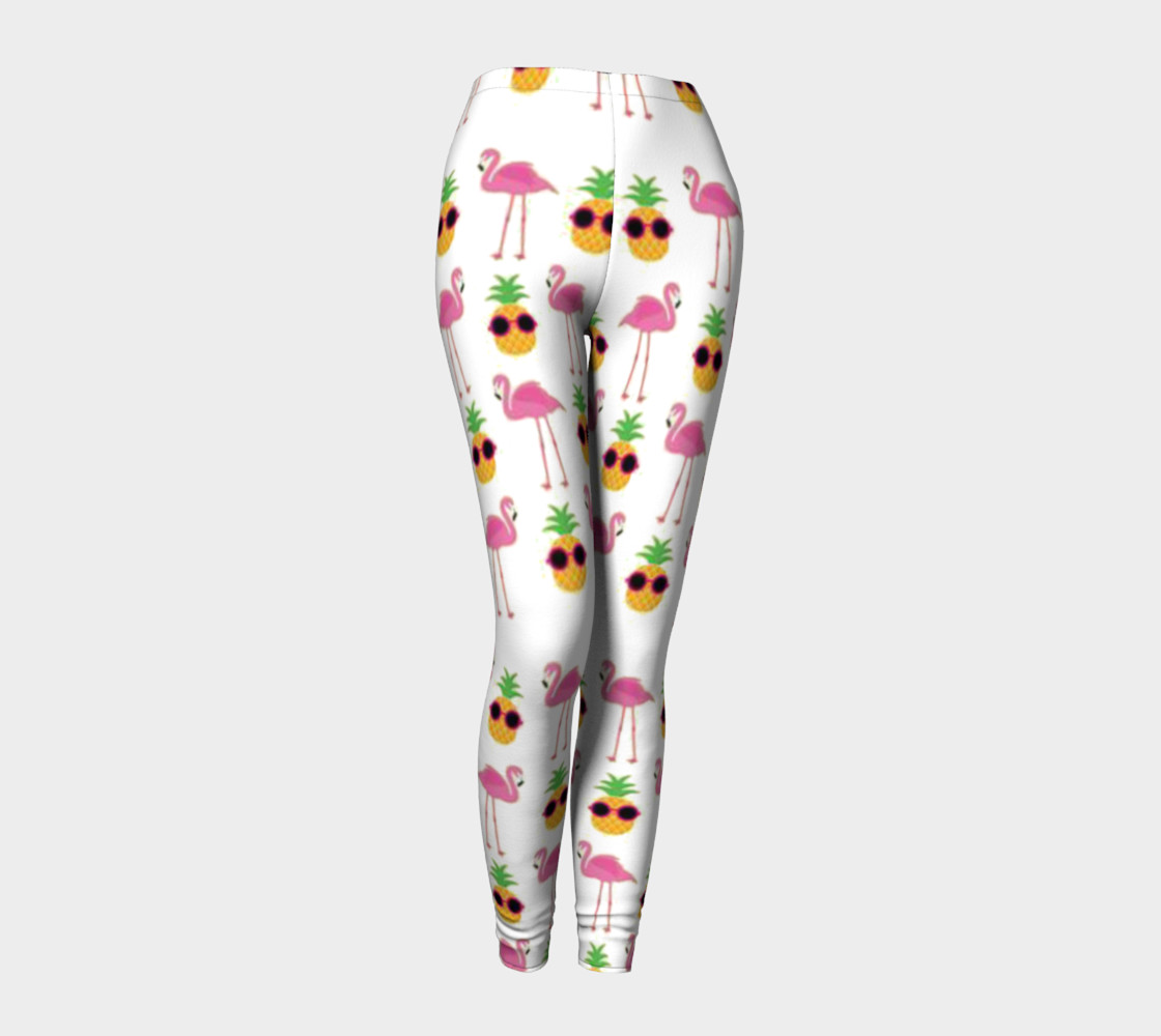 stylish pineapple flamingos preview #1