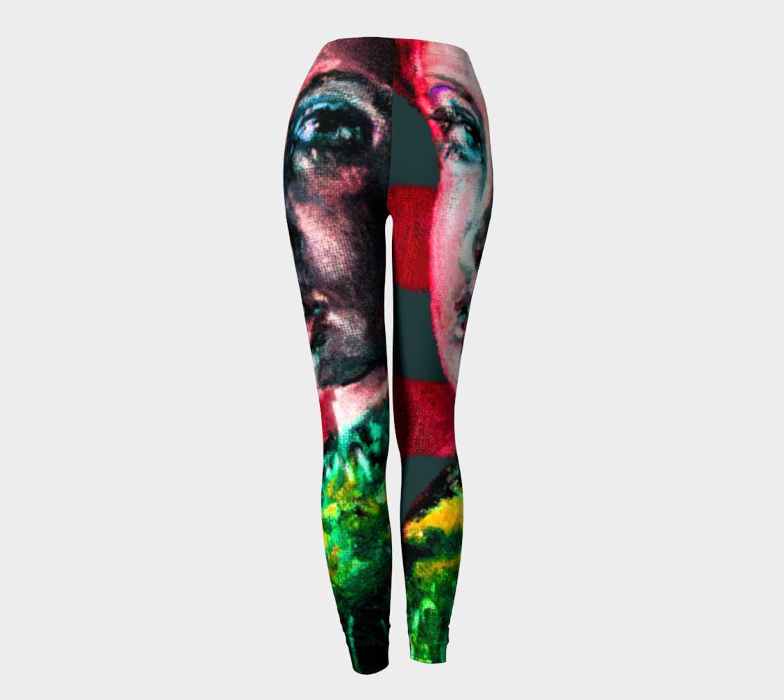 Aperçu de Girl with the Devin Earring Virtual Body-Paint Leggings #4