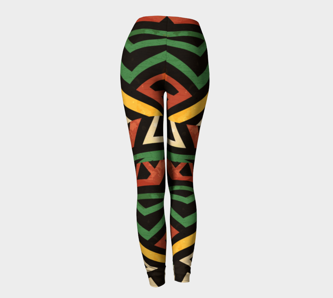 Afrocentric geometric leggins (print by Gudinny) preview #4