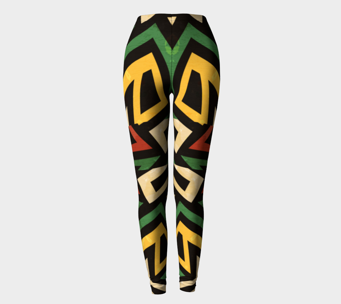 Afrocentric geometric leggins (print by Gudinny) preview #2