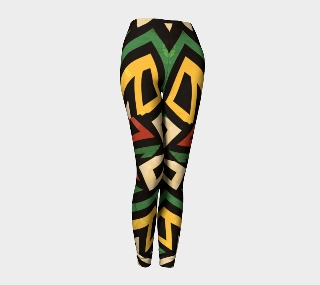 Afrocentric geometric leggins (print by Gudinny) preview #1
