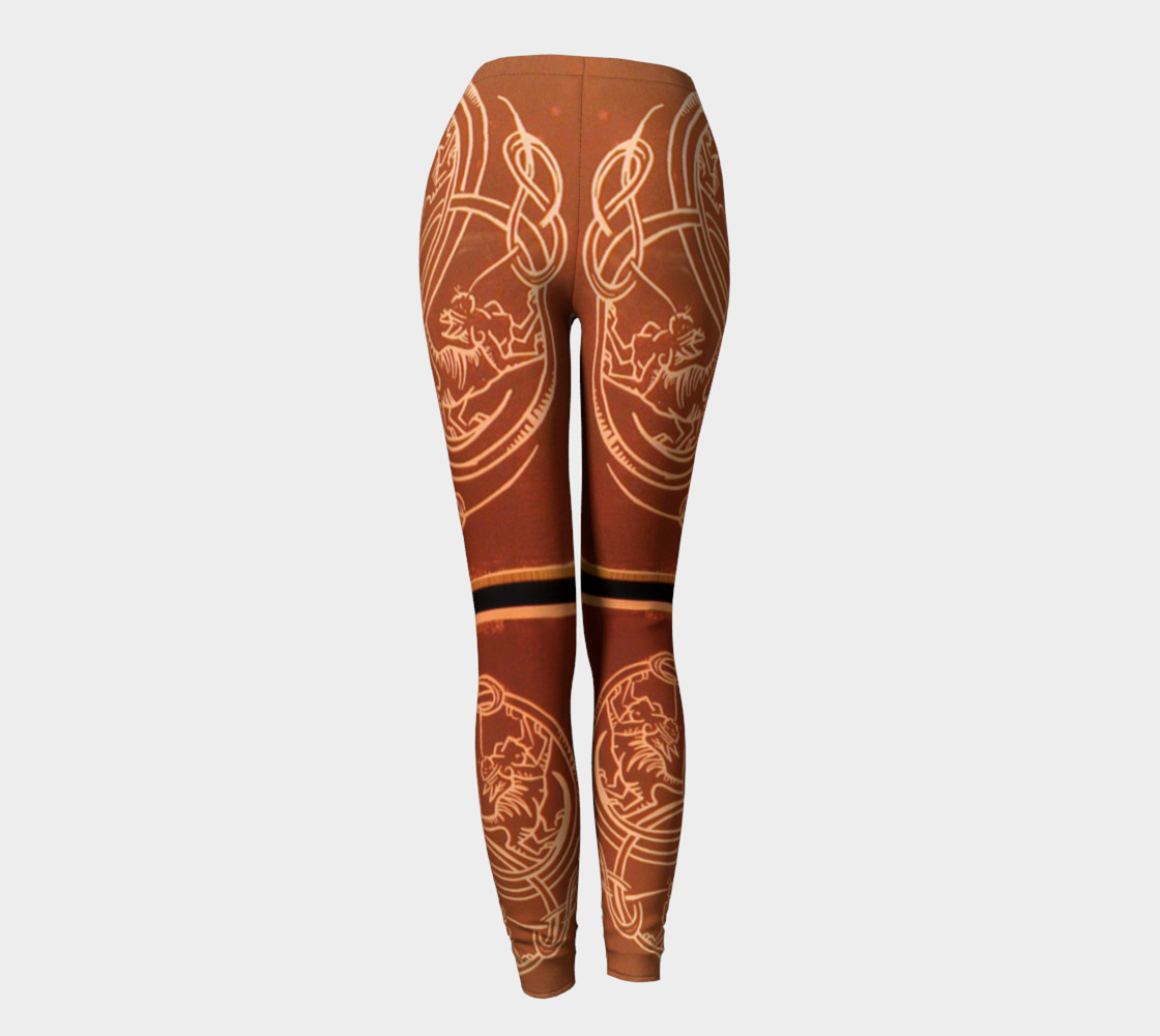 Aperçu de Ochre Celtic Knot Copper Cat Leggings #4
