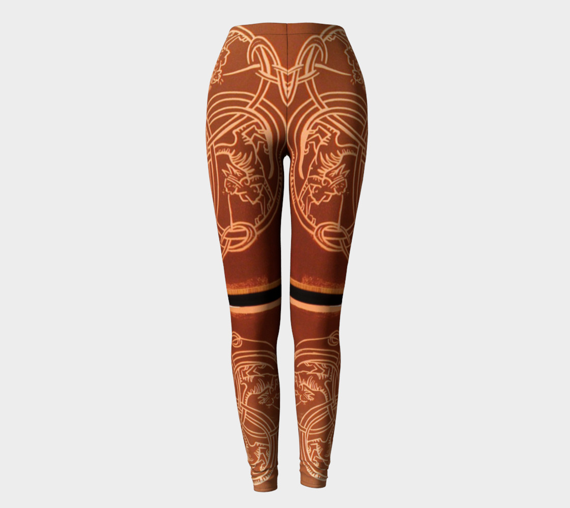 Aperçu de Ochre Celtic Knot Copper Cat Leggings #2