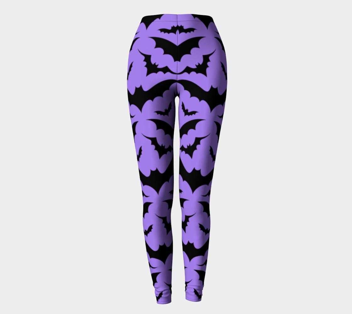 Purple Bats Leggings preview #2