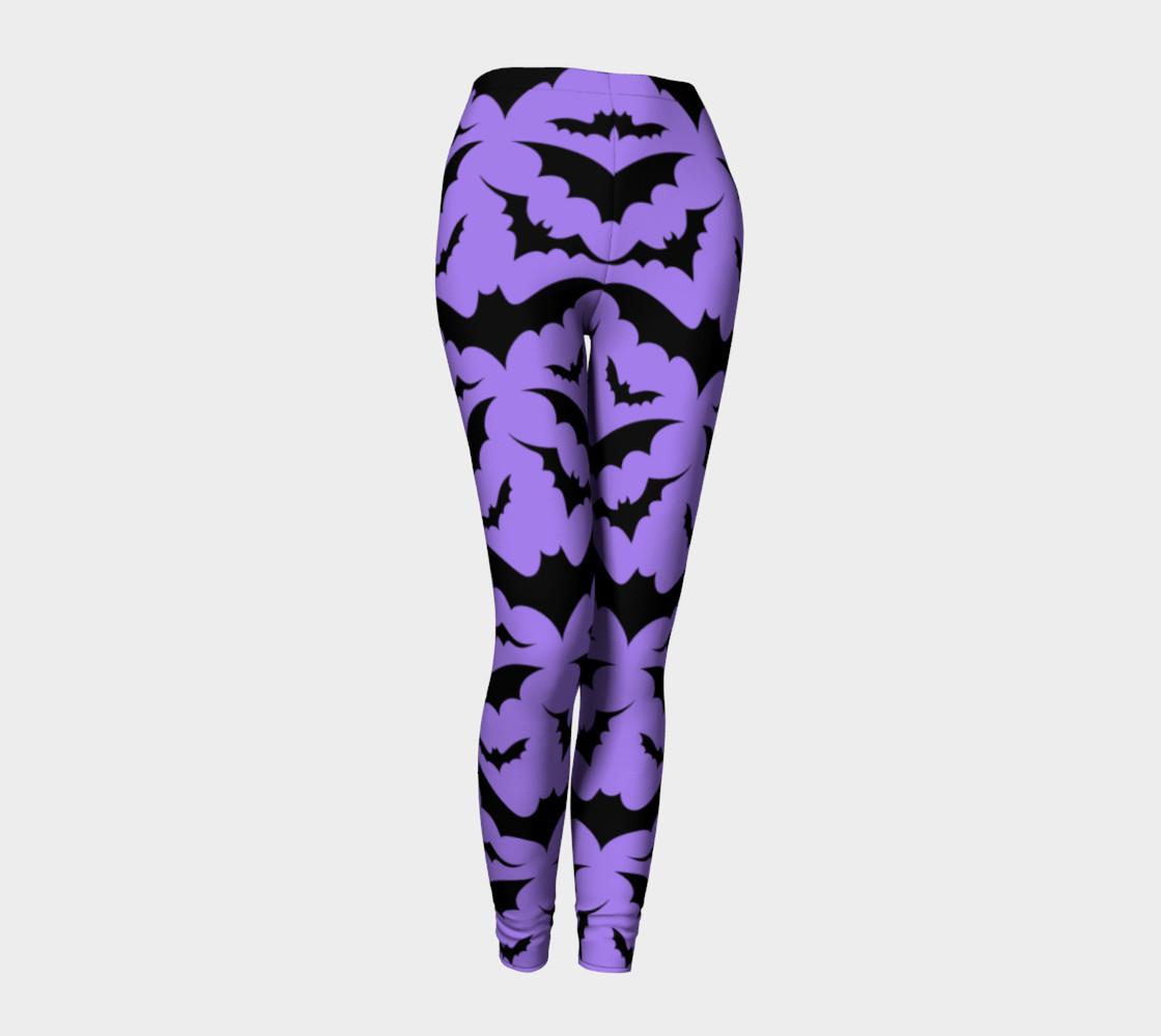Purple Bats Leggings preview #1