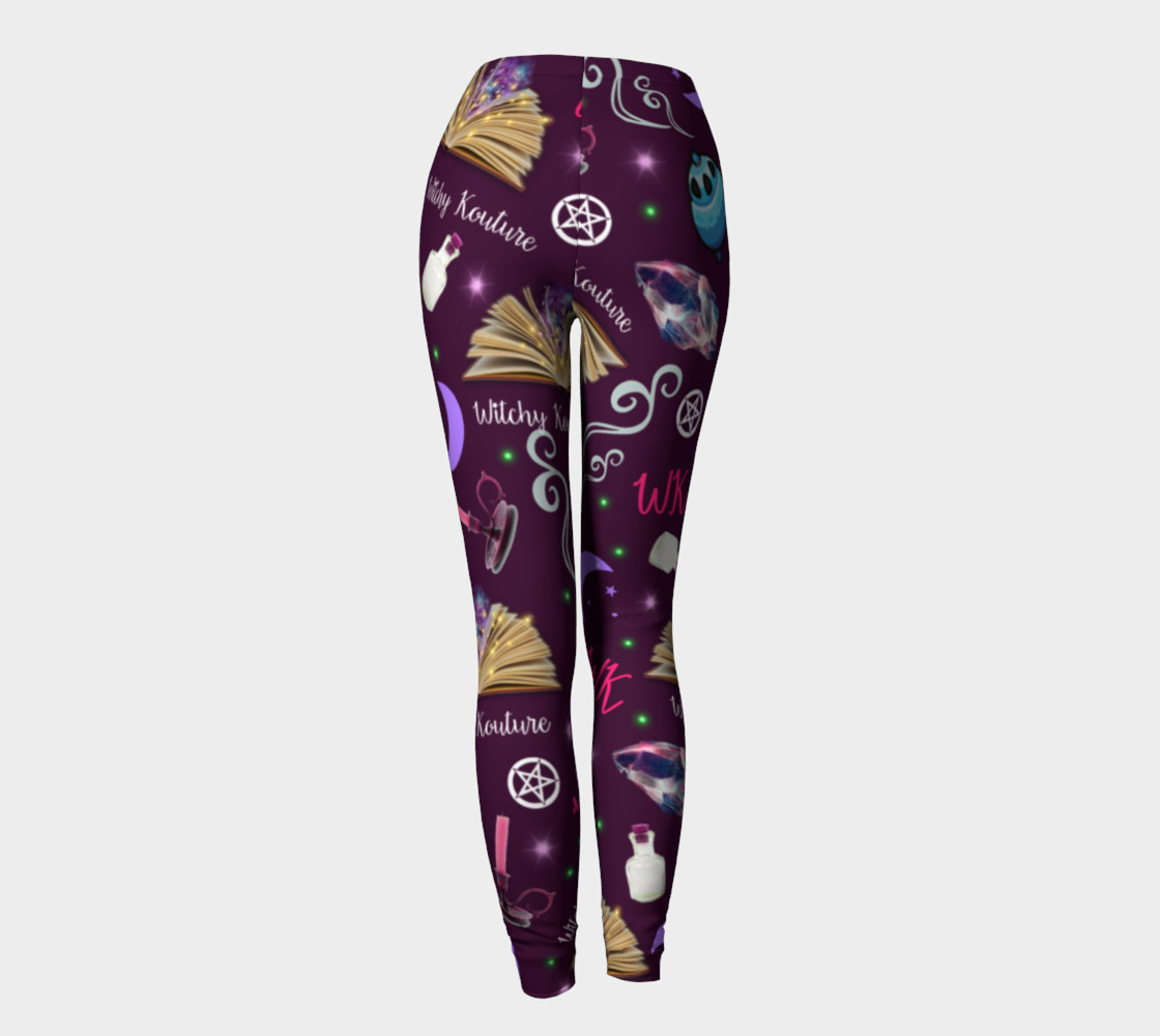 WK #ModernWitchLife Purple Print Leggings preview #4