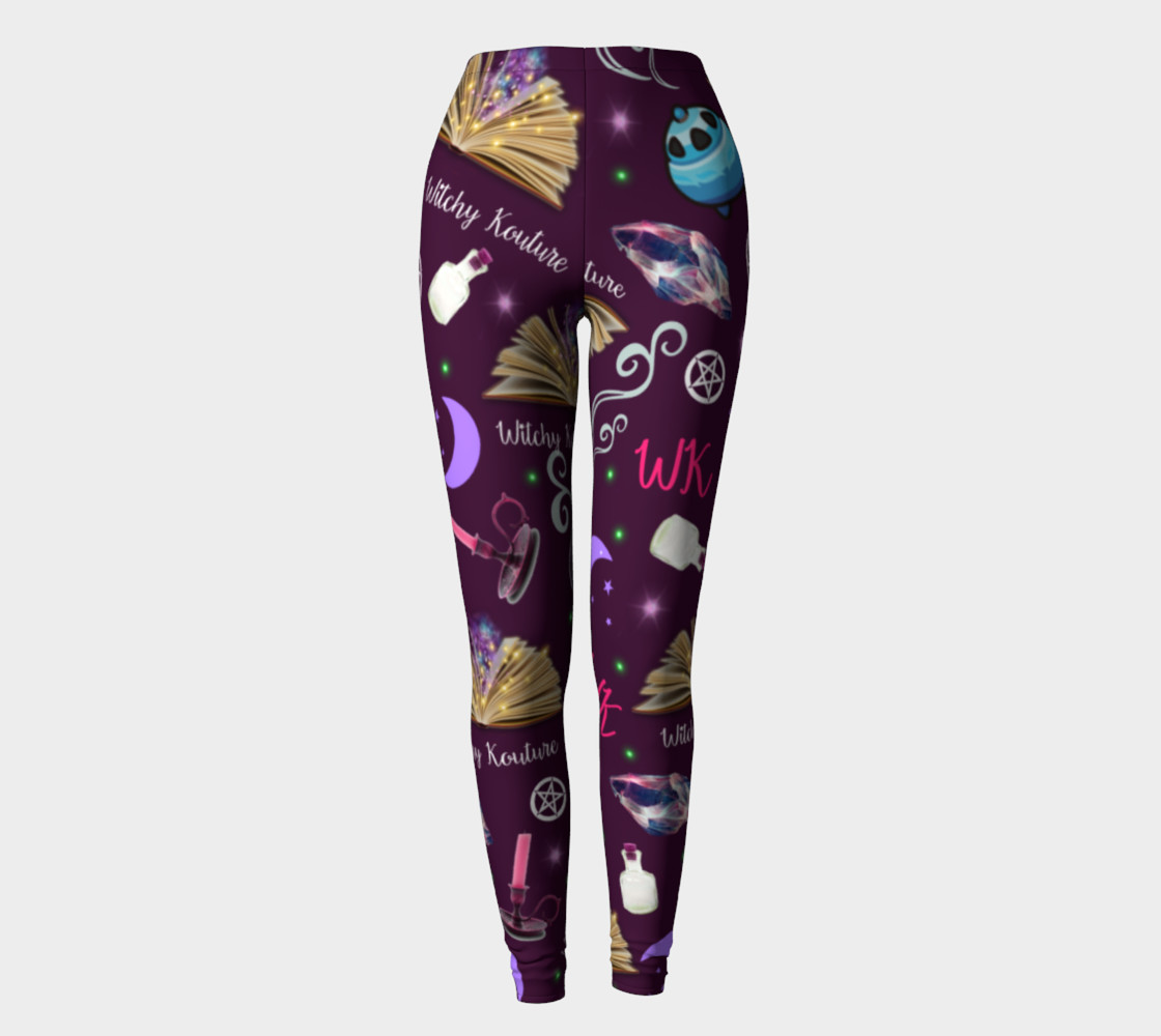 WK #ModernWitchLife Purple Print Leggings preview #2