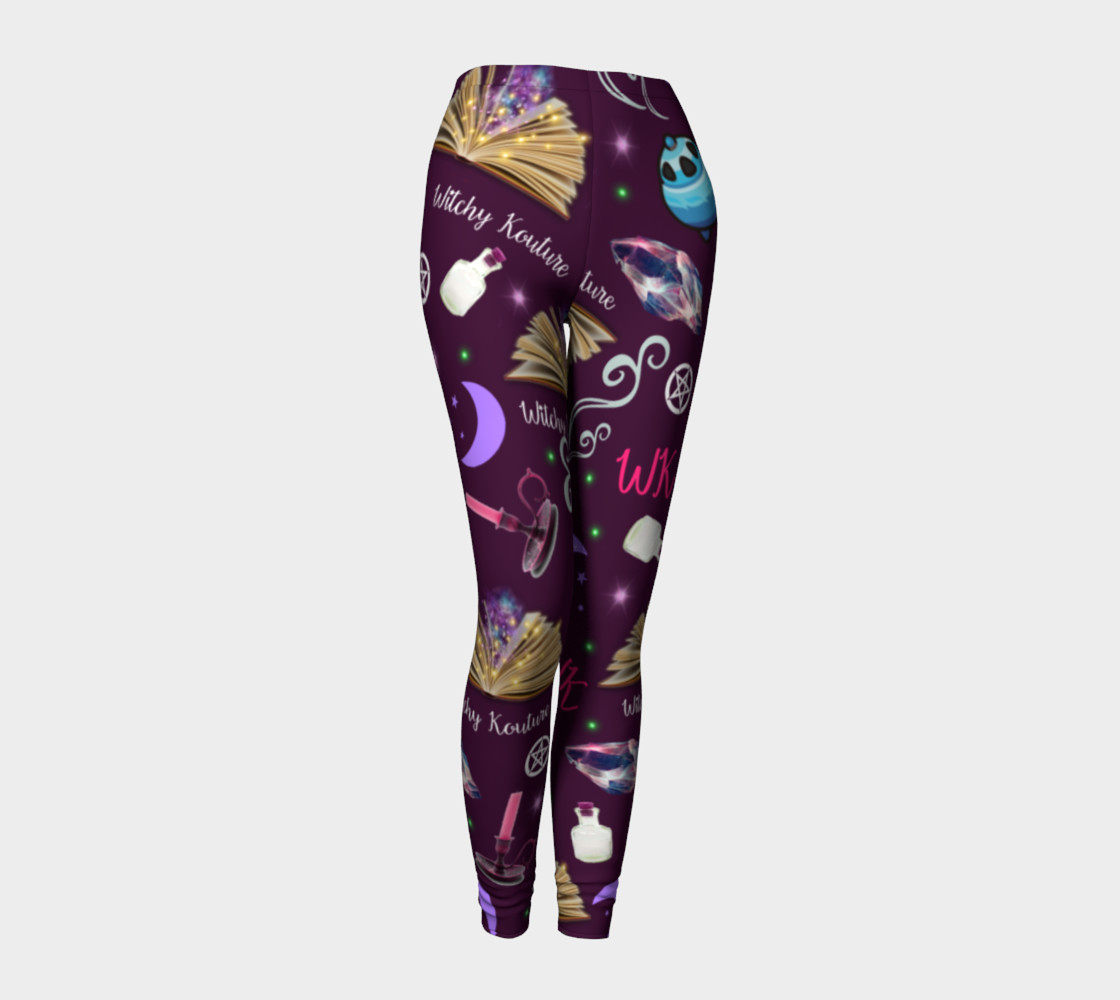 WK #ModernWitchLife Purple Print Leggings preview #1
