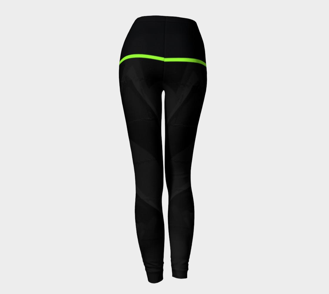 CHOLO - Charcoal/Green - Leggings preview #4