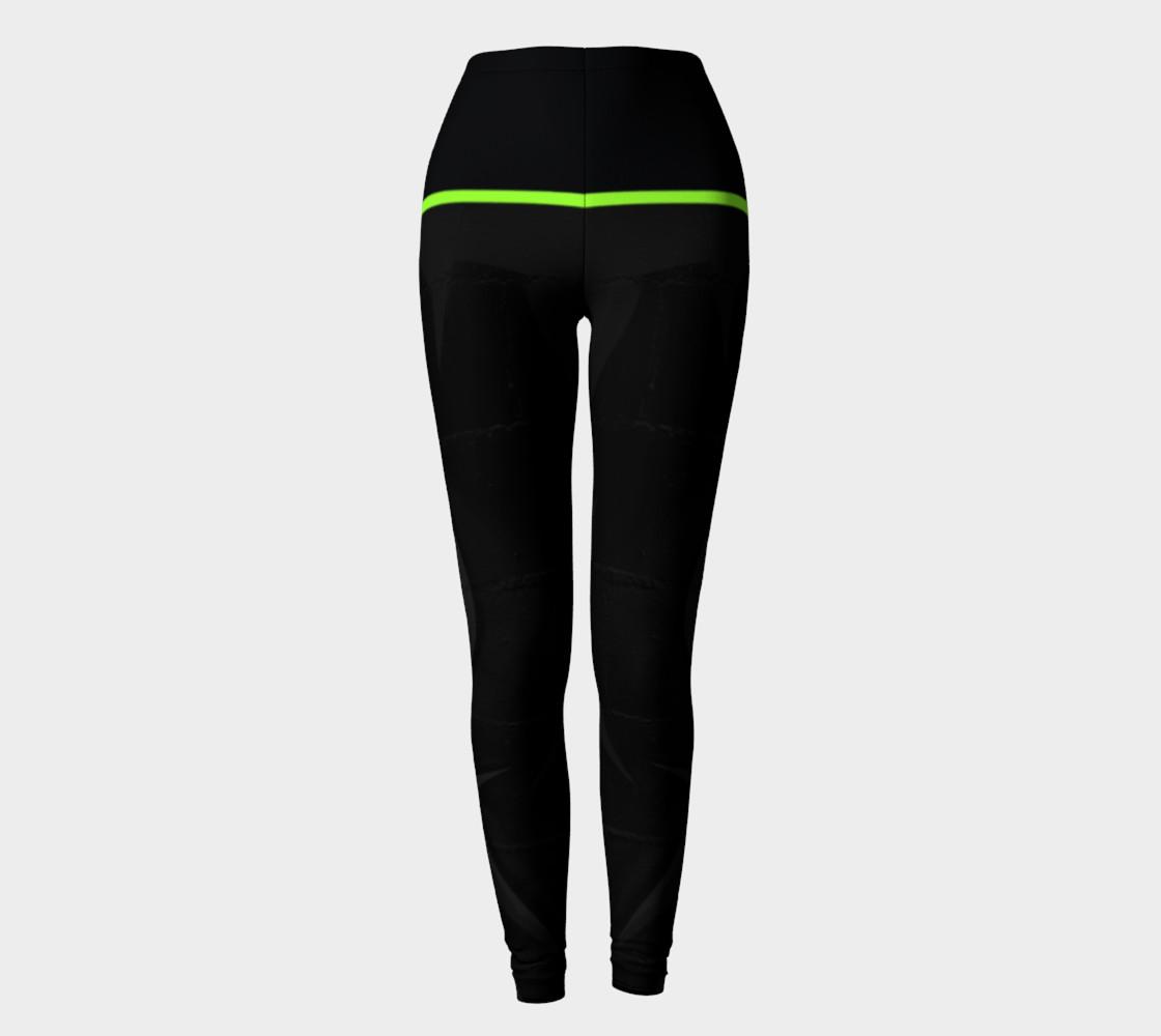 CHOLO - Charcoal/Green - Leggings preview #2