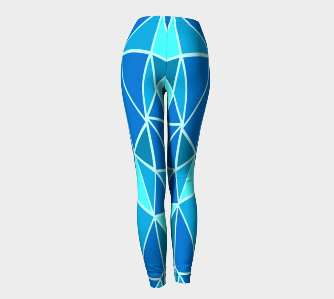 Aperçu de Blue Geometric Adult Leggings #4