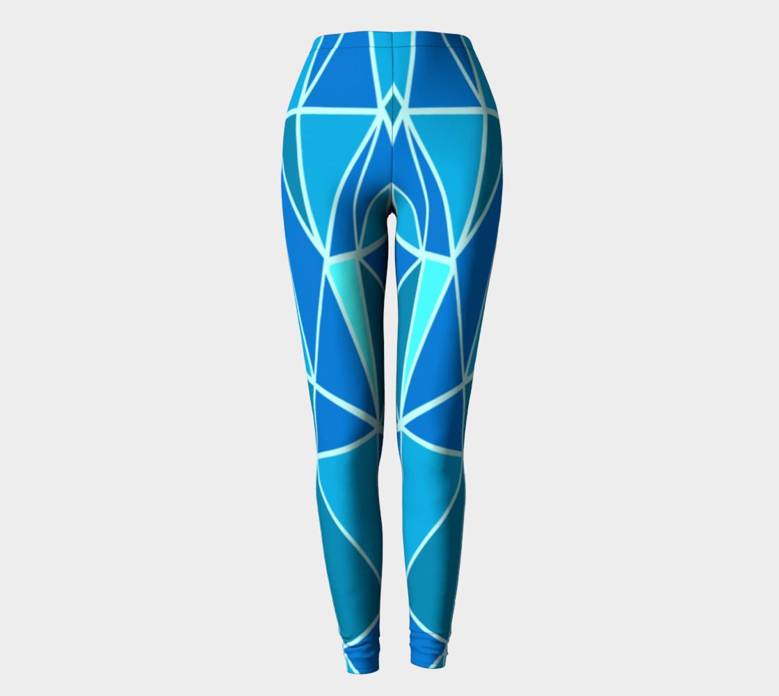 Aperçu de Blue Geometric Adult Leggings #2